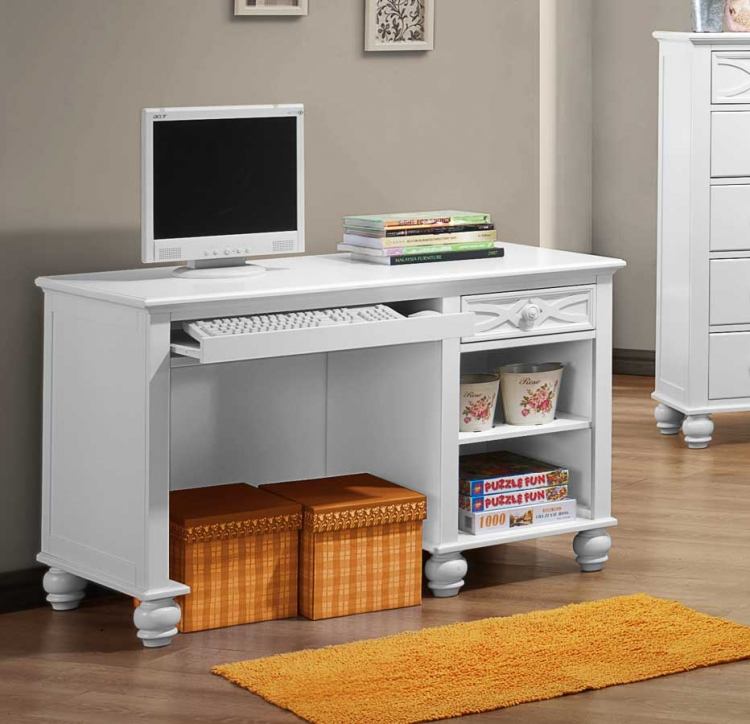 Sanibel Writing Desk - White