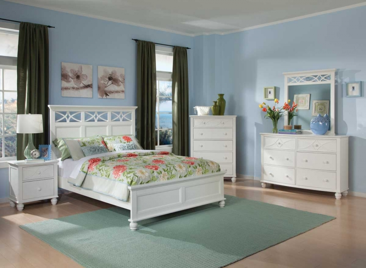 Sanibel Bedroom Set - White