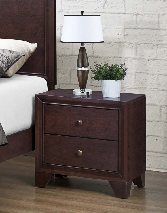 Kari Night Stand - Warm Brown Cherry