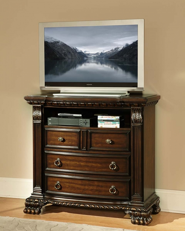 Orleans TV Chest - Cherry
