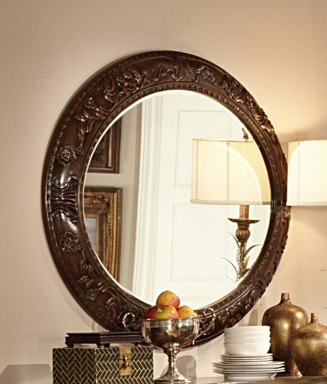Homelegance Orleans Server Mirror - Cherry