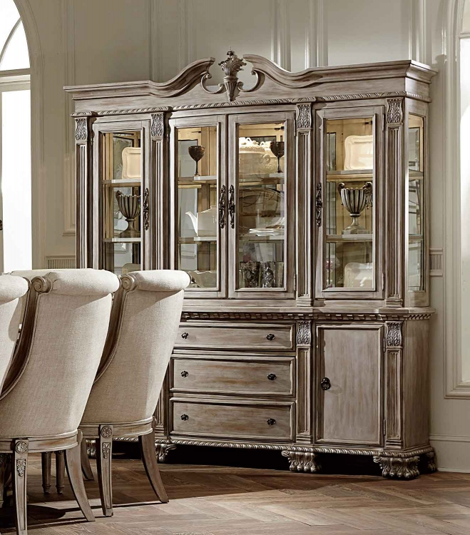 Orleans II China Cabinet   White Wash