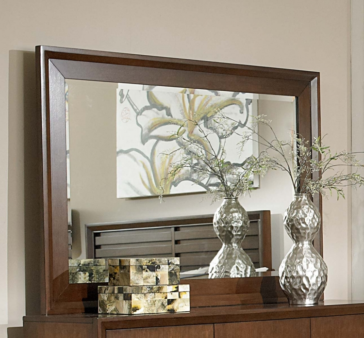 Oliver Mirror - Warm Brown Cherry