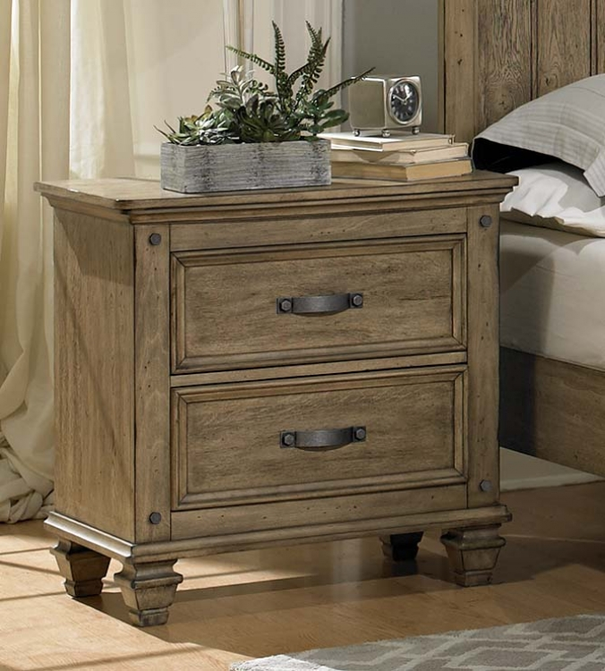Sylvania Night Stand - Driftwood Oak