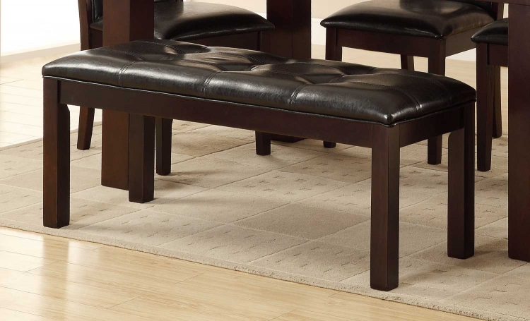 Lee Bench - Espresso - Dark Brown Bi-Cast Vinyl