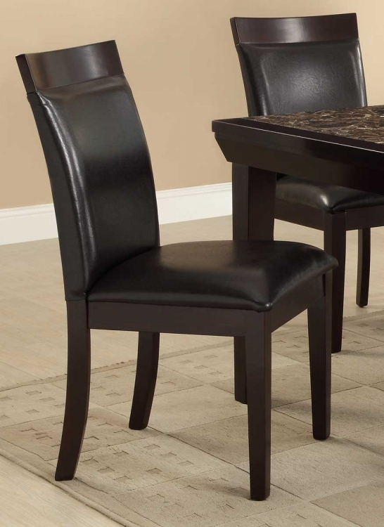 Thurston Side Chair - Espresso - Dark Brown Bi-Cast Vinyl