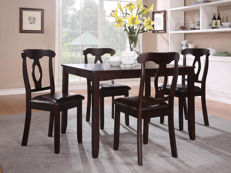 Keira 5PC Dinette Set - Dark Cherry