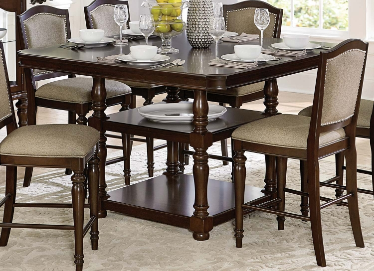 Marston Counter Height Dining Table - Dark Cherry