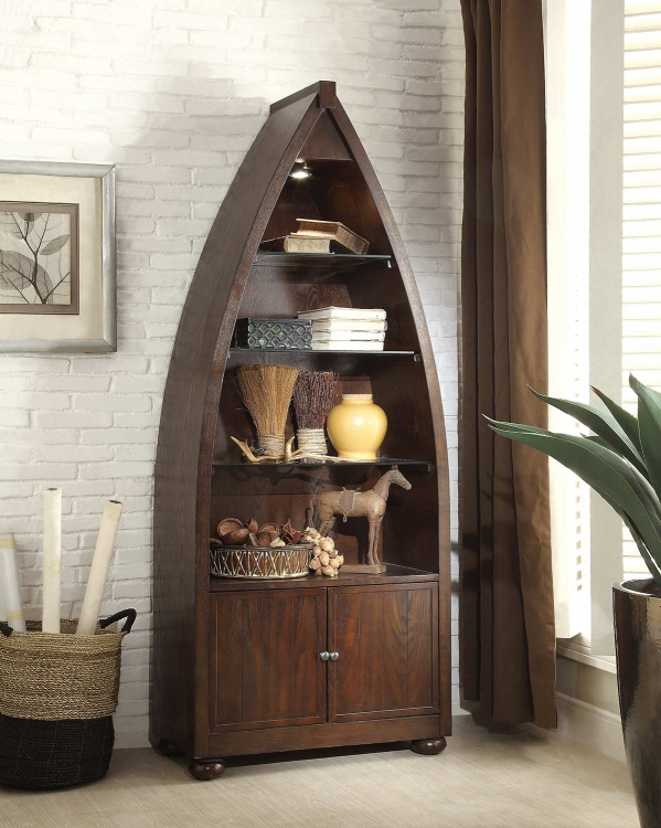 Hatchett Lake Bookcase - Brown