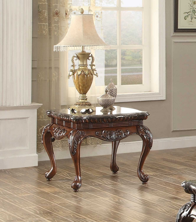 Mariacarla End Table - Dark Cherry