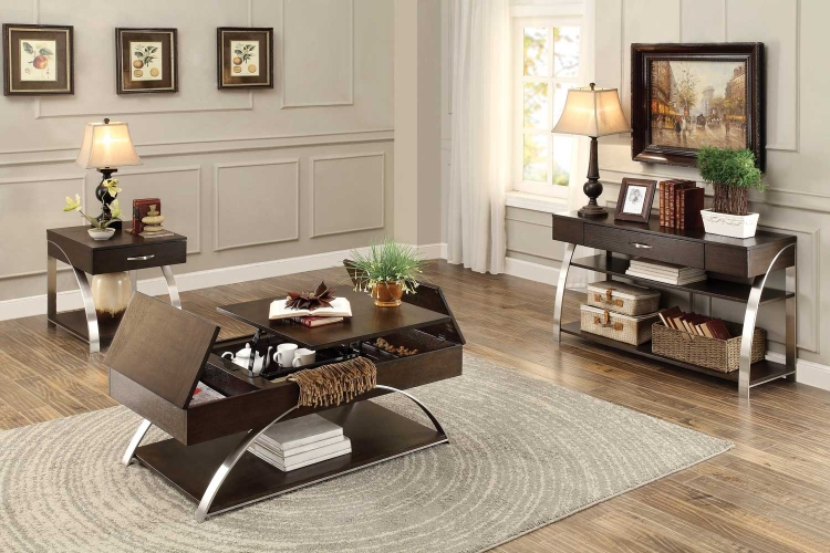 Tioga Cocktail/Coffee Table Set - Espresso