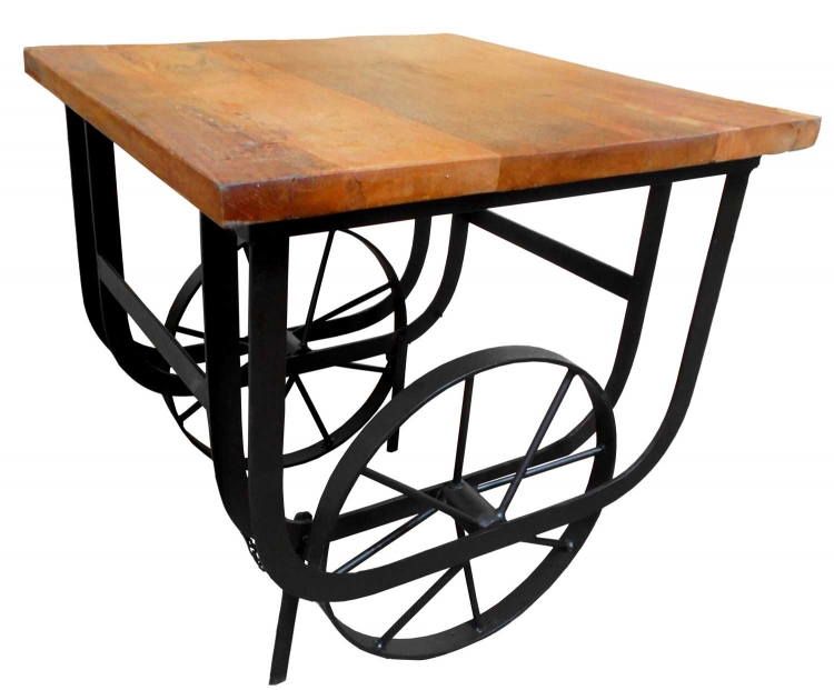 Bremerton End Table with Functional Wheels