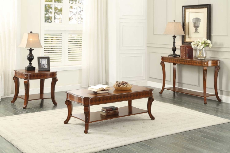 Rutherford Cocktail/Coffee Table Set - Classic Cherry