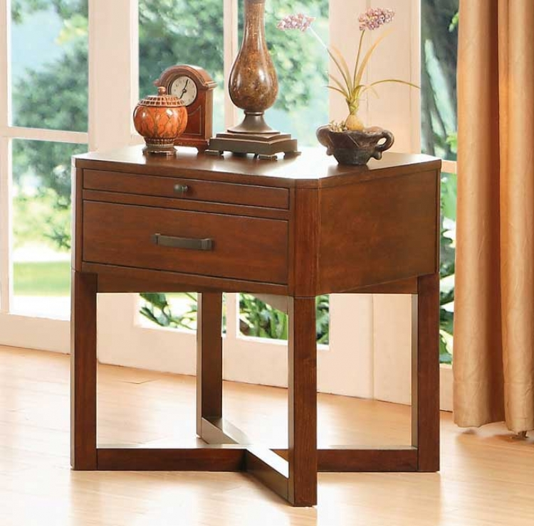 Capitan End Table - Cherry
