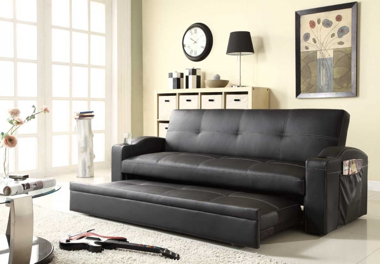Novak Elegant Lounger Sofa with Pull Out Trundle