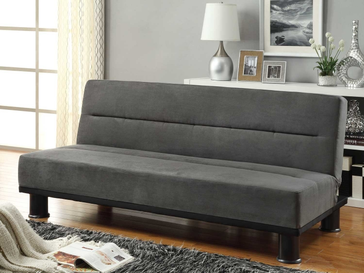 Callie Click-Clack Sofa Bed - Graphite - Grey Microfiber