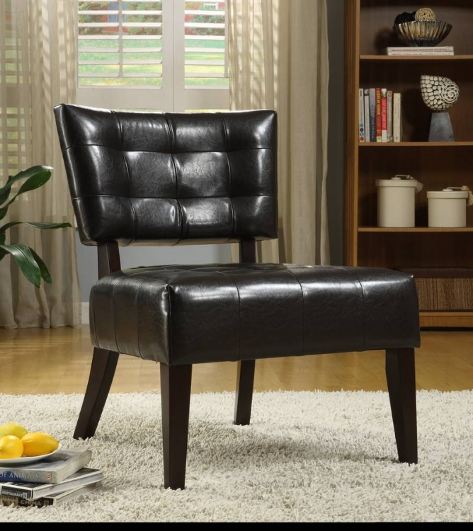 Warner Accent Chair   Dark Brown