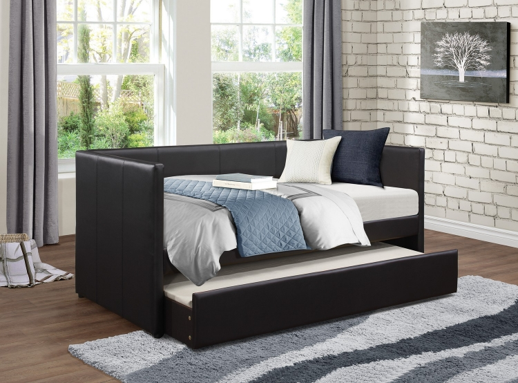 Andra Daybed with Trundle - Black