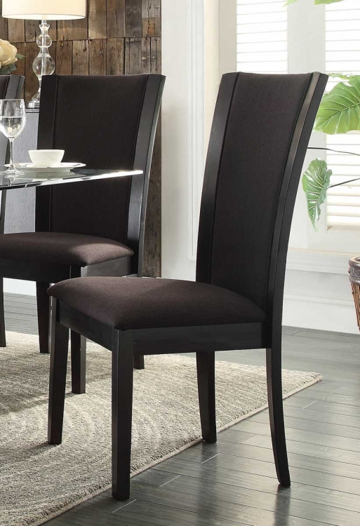 Havre Side Chair - Dark Brown Fabric
