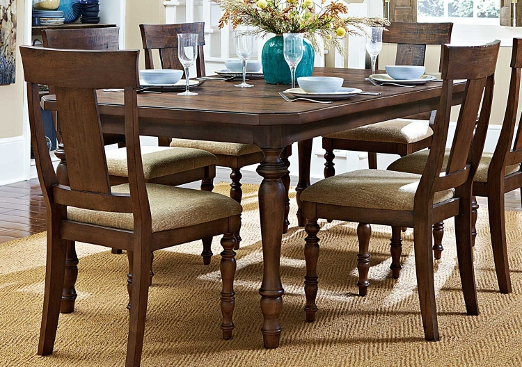 Maribelle Dining Table With Leaf - Warm Brown