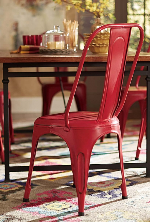 Amara Red Metal Chair - Red