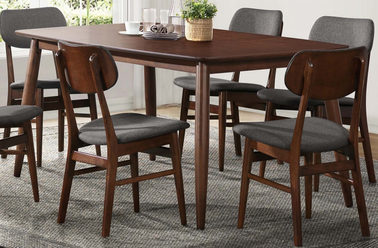 Lev Dining Table - Walnut Finish