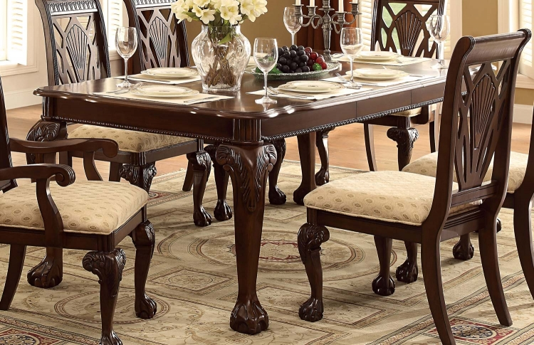 Norwich Leg Dining Table - Warm Cherry