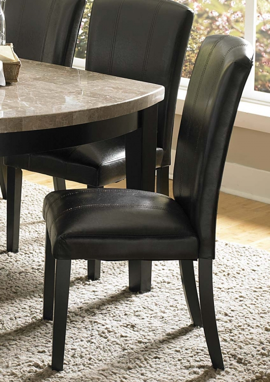 Cristo Side Chair - Dark Brown Bi-Cast Vinyl