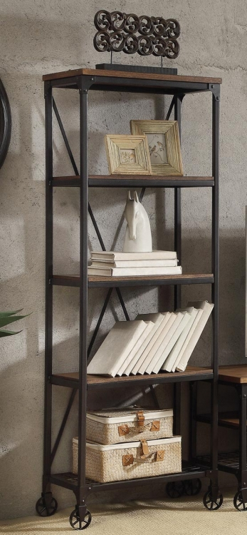 Millwood 26-inch Bookshelf - Distressed Ash