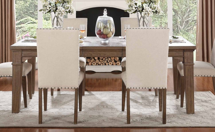 Mill Valley Leg Dining Table - Weathered Wash