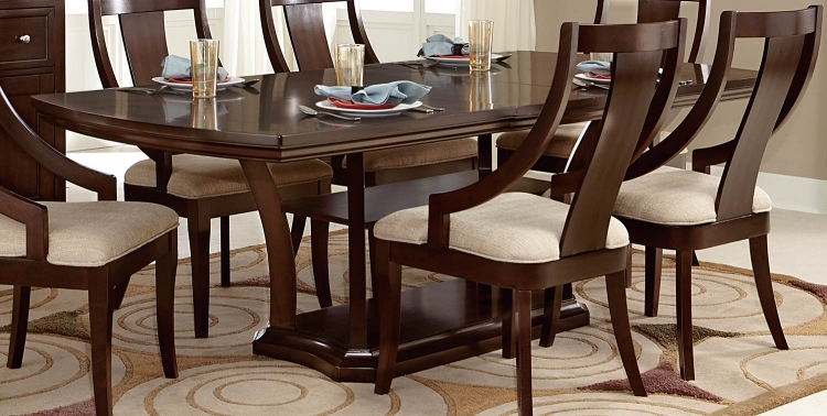 Aubriella Pedestal Dining table - Cherry