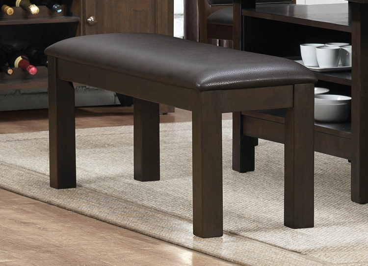 Corliss Bench - Dark Brown