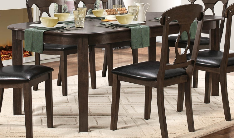 Lemoore Dining Table - Weathered Brown