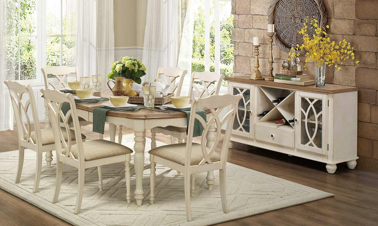 Azalea Dining Set - Antique White