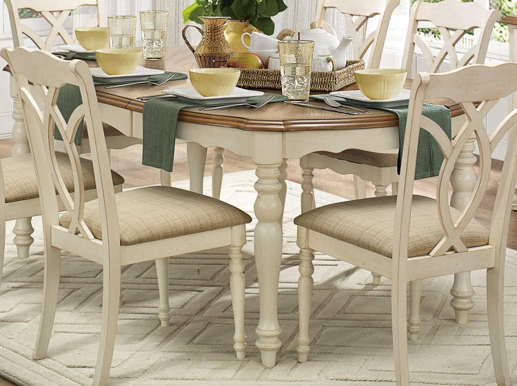 Azalea Dining Table - Antique White