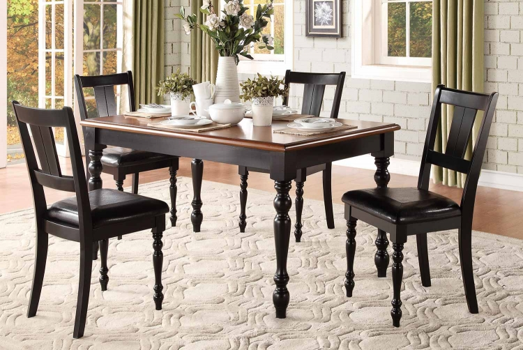 Laurel Grove Dining Set - Black/Cherry