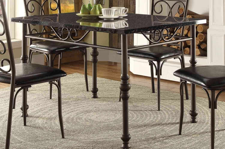 Dryden Dining Table - Metal