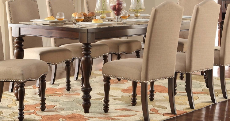Benwick Dining Table - Dark Cherry