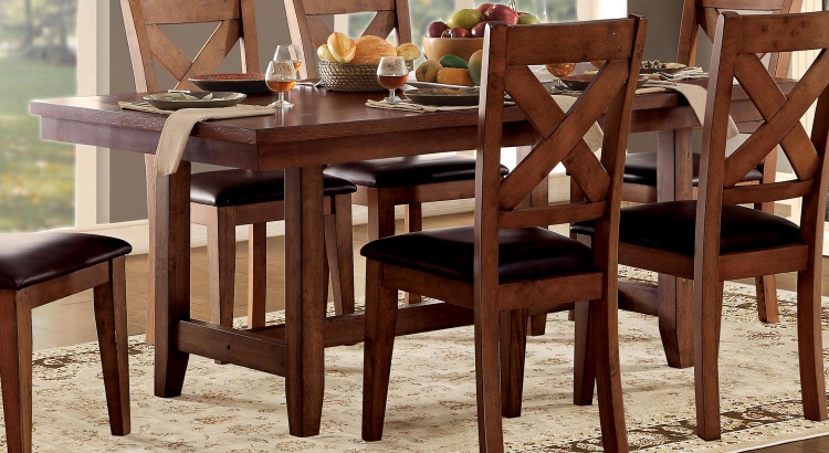 Burrillville Trestle Dining Table - Oak