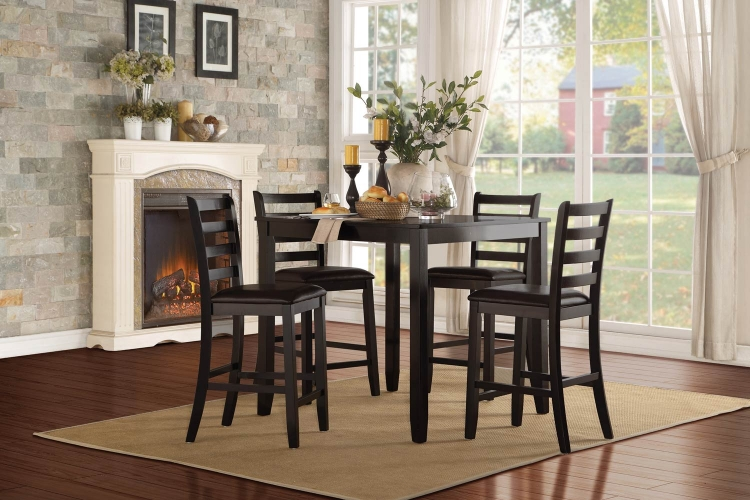 Trask 5-Piece Counter Height Dining Set - Black