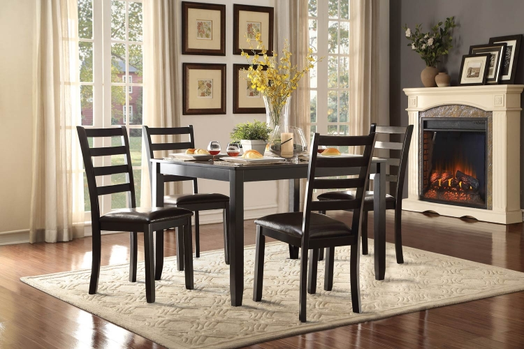 Trask 5-Piece Dinette Set - Black
