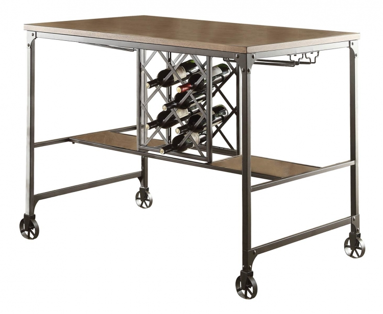 Angstrom Counter Height Table with Wine Rack
