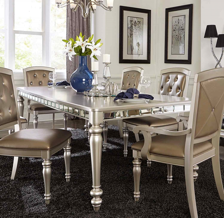 Orsina Dining Table - Silver