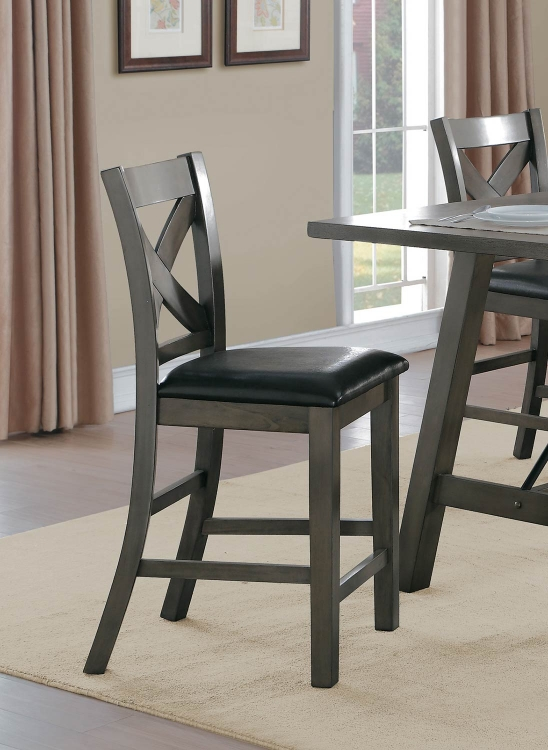 Seaford X-Back Counter Height Chair - Gray tone