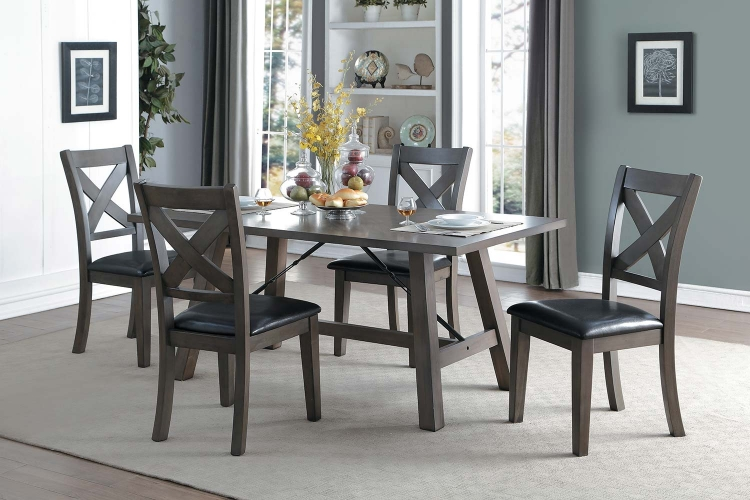Seaford Rectangular Dining Set - Gray tone