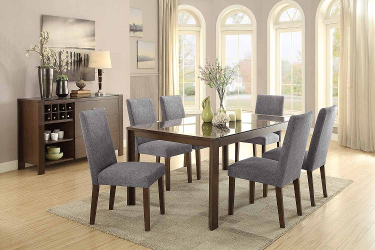 Fielding Rectangular Dining Set - Brown