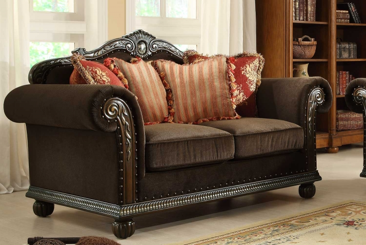Catalina II Love Seat - Chocolate - Chenille