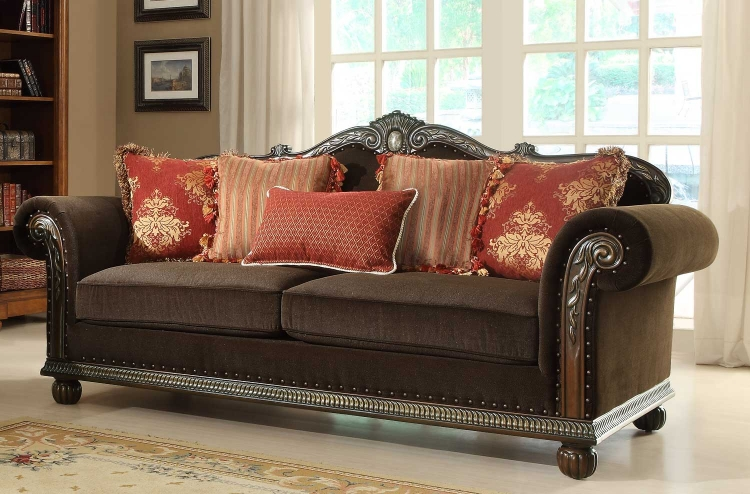 Catalina II Sofa - Chocolate - Chenille