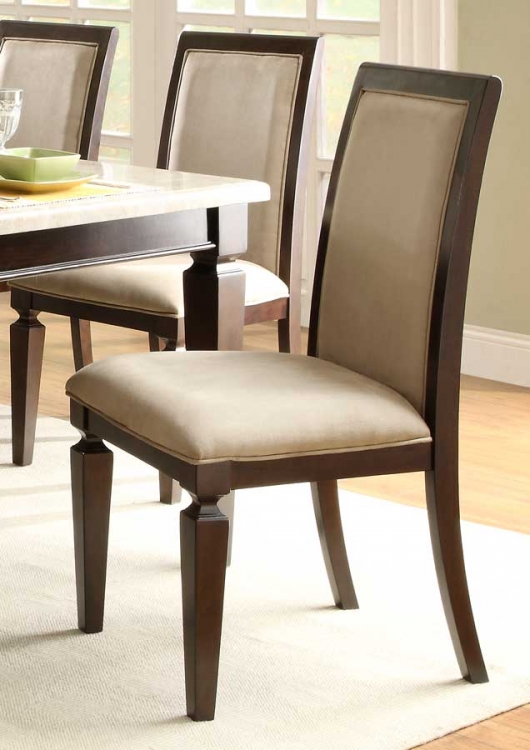 597D Side Chair - Microfiber - Dark Espresso