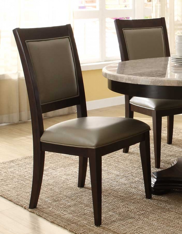 597D Side Chair - BiCast - Dark Espresso